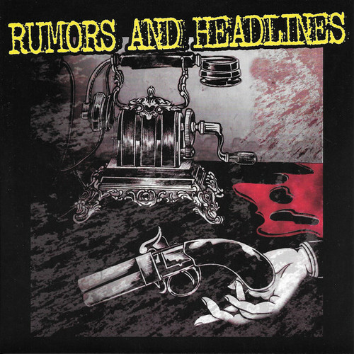 "rumors and headlines w/ sea foam green split 7"" BROWN MARBLE vinyl"