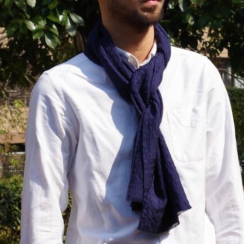 フィルタンゴストール 西洋更紗柄 ネイビー 京都 丹後の絹織物