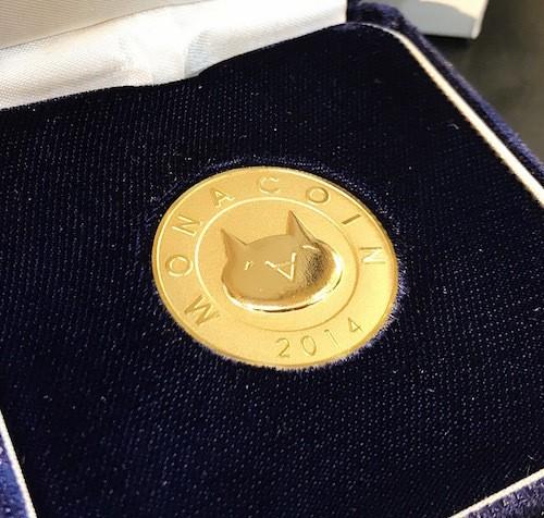 [限定]逆プルーフ純金モナコイン / K24 Gold Monacoin