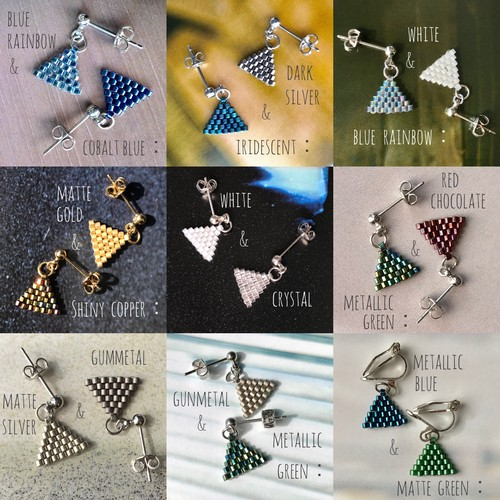 【iro-asobi】petit triangle:pierce & earring
