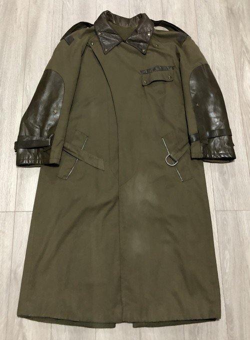 1980s CLAUDE MONTANA LEATHER PATCH COAT