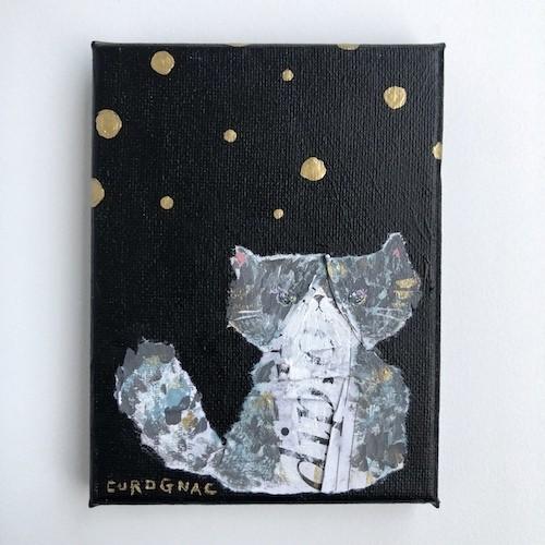 【ちいさなキャンバス画】あしあと惑星って、どこにあるんだろう