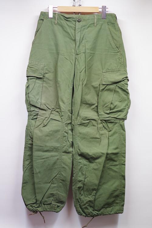 69年納品 60's US ARMY Junglefatigue Vietnam BDU 4th Trousers(42TALONジッパー初期モデル,リップストップポプリンコットン,ウエストベルト式) サバゲーにも