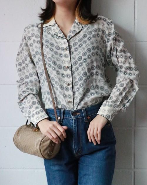 ESCADA abstract dots silk blouse