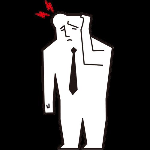 頭が痛い男性会社員
