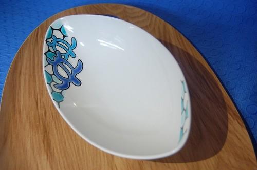 舟形皿 ホヌ ブルー