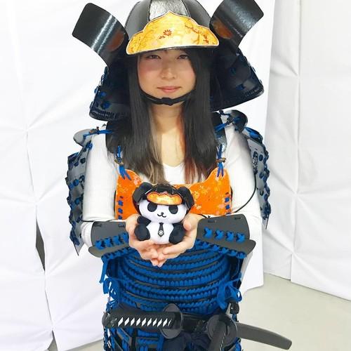 カッコイイ × カワイイ = 戦国パンダ部長(黒)。マスコットキャラクターとのコラボ商品を実現!♪( ´▽`)