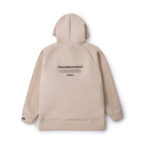 NIL DUE / NIL UN TOKYO - EMBROIDERY LOGO HOODIE (SAND) -