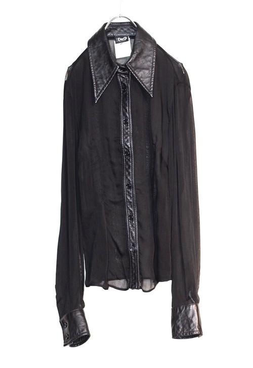 D&G leather shirt