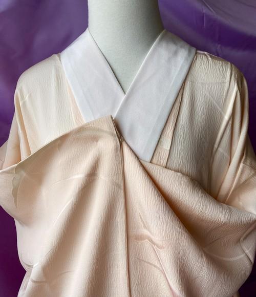 〈雪芝模様の織り出し長襦袢〉薄桃色 トールサイズ 美品 送料無料