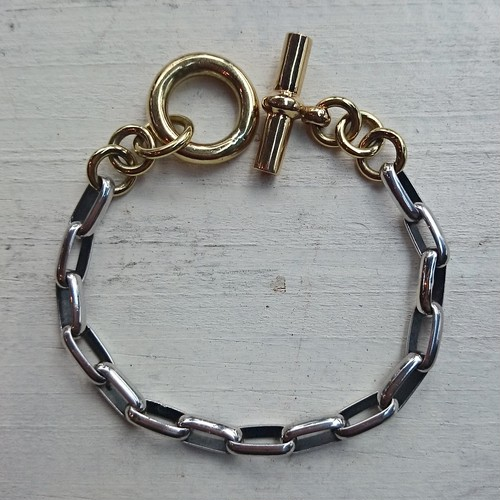 SILVER/BRASS bracelet  chain style large ver.
