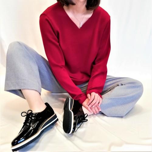 シンプルで綺麗色♡ Vネックセーター 【送料無料】