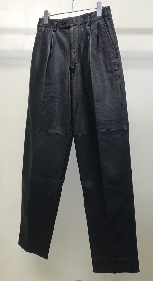 1990s COMME DES GARCONS LEATHER TROUSERS