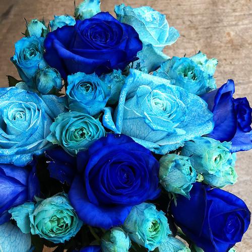 【Bouquet】Blue Rose Bouquet(Premium)