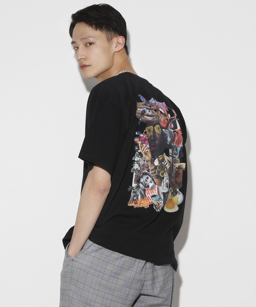 9th anniversary Special Graphic Collage T-shirt [Black]