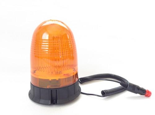 LEDフラッシュビーコン(回転灯) マグネット仕様 12/24V対応 オレンジ