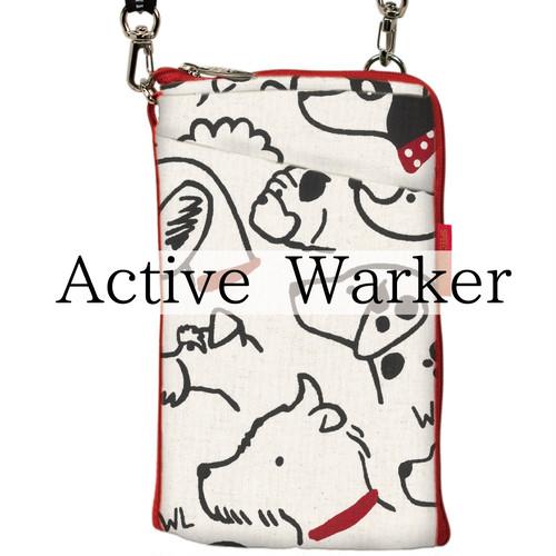 Active Warker(アクティブウォーカー) 充電しながら手ぶらでウォーキング!肩紐(反射テープ)が車のライトに反射してキラ☆☆☆