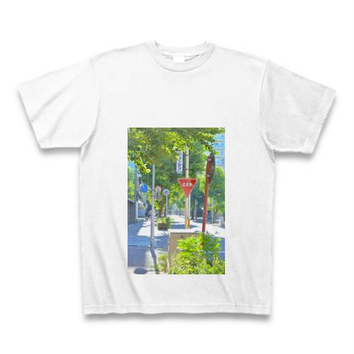 print T-shirt 「LOVE MY TOWN Nagoya-maru-no-uchi」