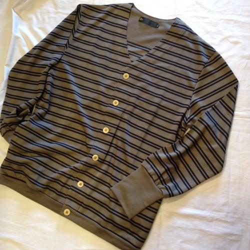 Tencel Knit Border Cardigan(Re made in tokyo japan)