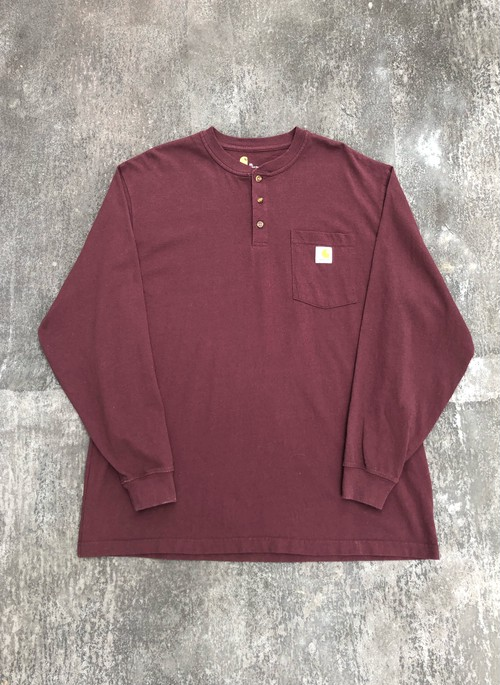 Carhartt / simple henley neckline L/S - bordeaux -
