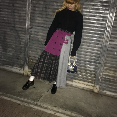 【Flapper's】trench layered skirt
