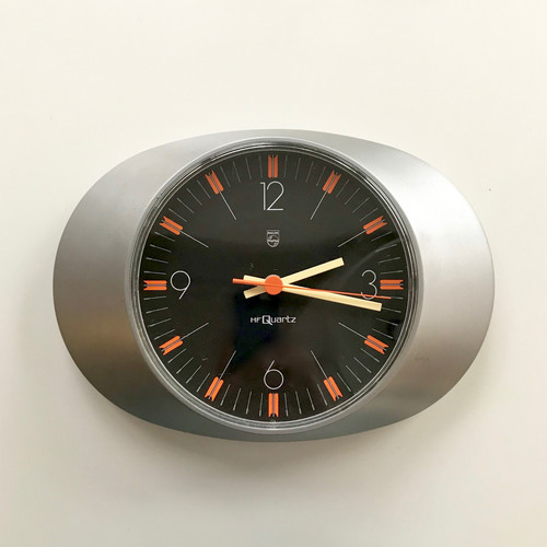 """""""PHILIPS"""" Vintage Wall Clock 1970's オランダ"""