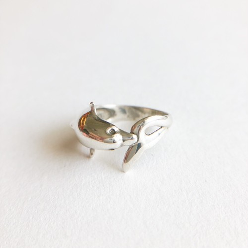silver dolphin ring #10-11[r-135]