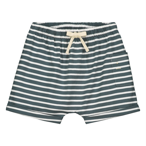 GREY LABEL 1 Pocket Shorts KIDS Blue Grey x White Stripe