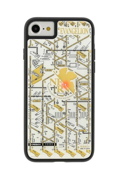 FLASH NERV 基板アート iPhone7/8ケース 白【東京回路線図A5クリアファイルをプレゼント】