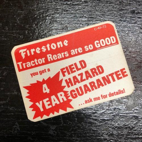 60's Firestone 4YEAR GUARANTEE ステッカー ビンテージ HOT ROD ホットロッド ファイヤーストーン