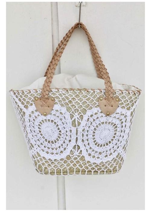 ◆Mon ange Louise◆ BAG DENTELLE(white)かごバッグ