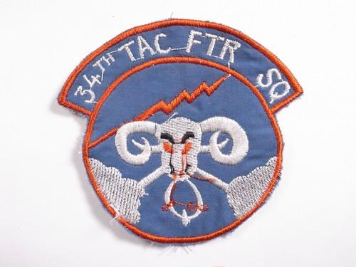 "OLD PATCH""34TH TAC FTR SQ"""