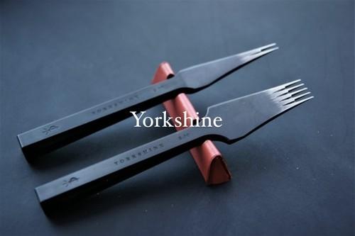 YORKSHINE ヨーロッパ目打ち 2刃と5刃/P.guide(¥1300)付き 全サイズあります