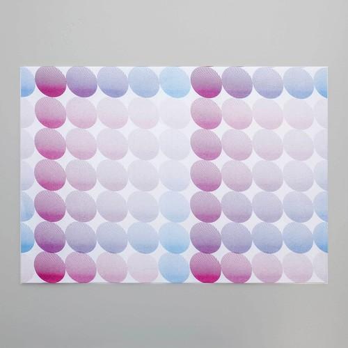 【NEW】リソグラフパターンペーパー[ファンタスティックマメ] Burgundy × Sky blue