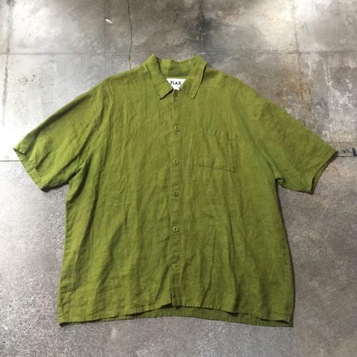 90s FLAX Linen Shirt