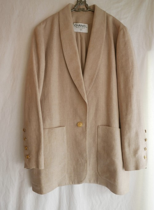 CHANEL Linen Jacket -Écru/Light Beije-