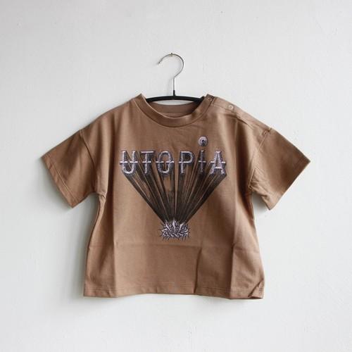 《eLfinFolk 2021SS》UTOPIA Tee / cocoa / 140-150cm