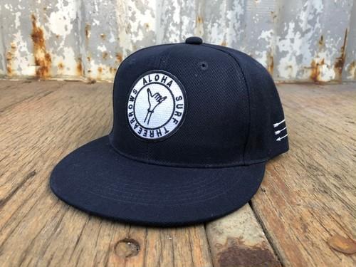 ALOHA SURF スナップバック CAP(navy)
