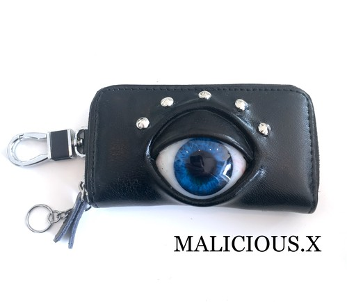 eye key case / deep blue