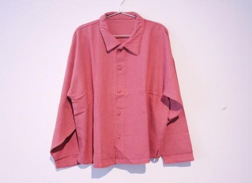 OLD ROSE-エリボタンシャツ/鄭惠中
