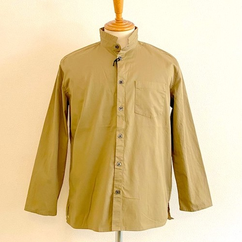 Cotton Gabardine Stand Small Collar 9/S Right Jacket Beige