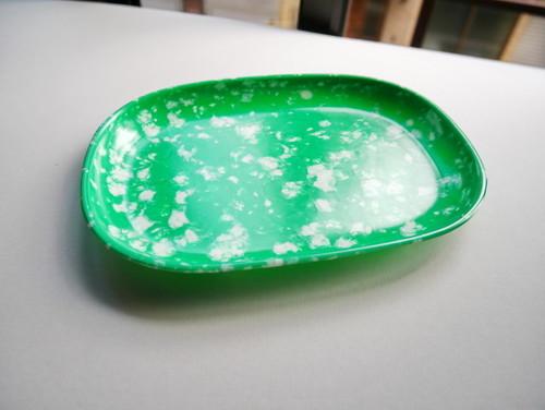 韓国の屋台で使われていた 平皿