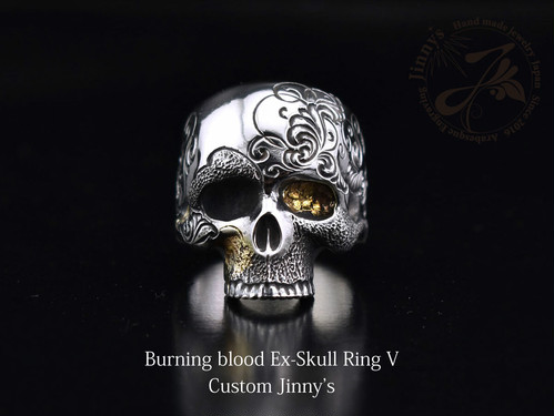 (1点モノ)Burning blood Ex-Skull Ring V Custom Jinny's