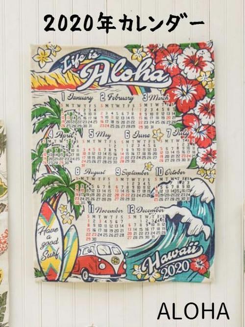 【送料無料】カレンダー 壁掛け 2020 /ALOHA ジュート カレンダー