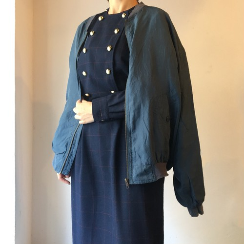 vintage silk blouson / blue