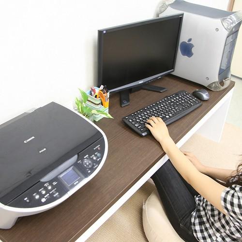 【激安/ネット最安値】薄型パソコンデスク ロータイプ 幅150×奥行45 ブラウン 4515