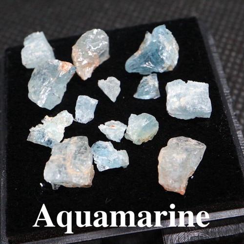アクアマリン カリフォルニア産  正方形 ケース #2 原石 AQ101 鉱物 原石 天然石 パワーストーン