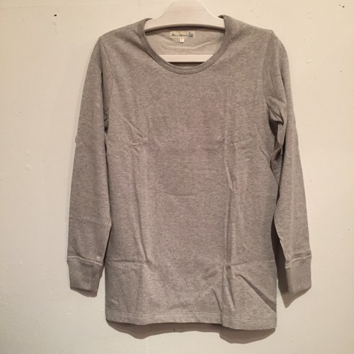 【Merz b.Schwanen】212 CREW NECK LONG SLEEVE [GREY MEL]