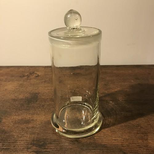 ガラス容器 蓋付き アンティーク