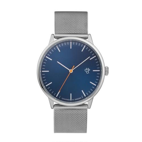 NANDO NAVY SILVER【CHPO】 Navy metal dial. Metal mesh wristband